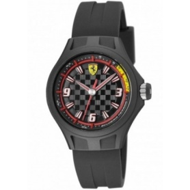 Scuderia Ferrari Watch man woman Pit Crew black rubber