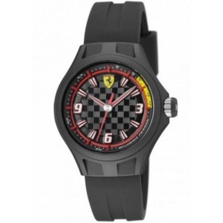 Scuderia Ferrari Watch man woman Pit Crew black rubber