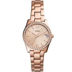 Fossil woman watch, in rosé steel, Scarlette - ES4318