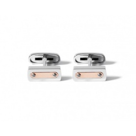Cufflinks steel and 18kt gold-UGM147