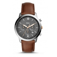 Fossil man watch, in brown leather, Neutra Chrono