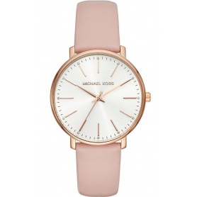 Michael Kors woman watch, in pink leather, Pyper