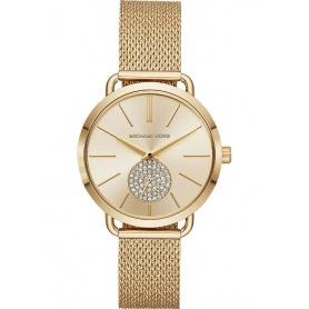 Michael Kors Uhr in goldenem Stahl Portia - MK3844