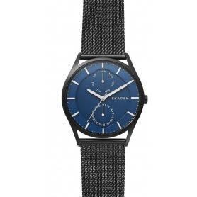 Skagen watch, man, multifunction, black Holst