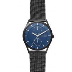 Skagen watch, man, multifunction, black Holst