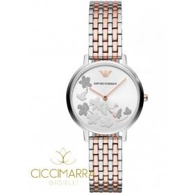 Emporio Armani Uhr, Frau, zweifarbige Blumen - AR11113