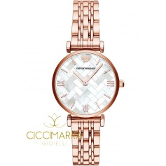 Emporio Armani watch, woman, mother of pearl rosè AR11110