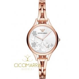 Orologio Emporio Armani donna rosè con fiori - AR11108