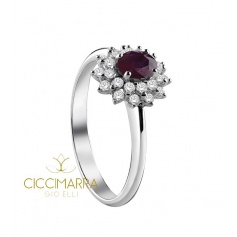 Salvini Celine ring, with Ruby and diamonds - 20071243