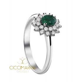 Salvini Celine ring, with Emerald and diamonds 20071244