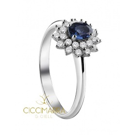 Salvini Celine ring, with Sapphire and diamonds 20071225