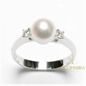 Salvini ring, with Akoya pearl and diamonds - 20013252