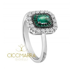 Salvini ring, Lorelayne with Emeralds and diamonds