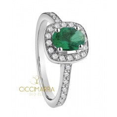 Salvini ring, Mediterranean with emerald and diamonds