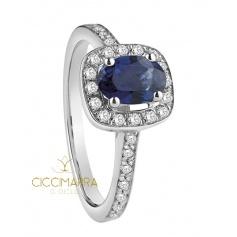 Salvini ring, Mediterranea with sapphire and diamonds