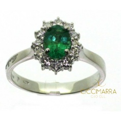 Salvini ring, Special Classic with Emerald and diamonds