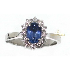 Salvini ring, Special Classic with sapphire and diamonds
