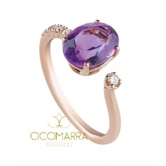 Salvini ring, Taormina with Amethyst and diamonds 20068871