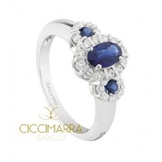 Salvini ring, Tiara Treasure with Sapphires and Brilliant