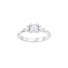 Swarovski anello Attract Trilogy asimmetrico argentato - 5371381