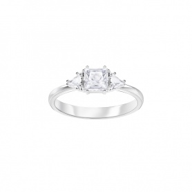 Swarovski ring, Attract Trilogy, asymmetrical, plated-silver - 5371381