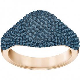 Swarovski anello Stone Signet azzurro placcato oro rosa - 5406201