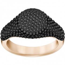 Swarovski anello Stone Signet nero placcato oro rosa - 5412036