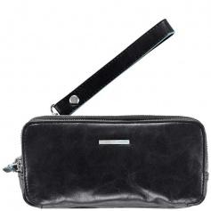 Piquadro black leather case-AC2141B2/N