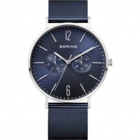 Bering Uhr, Mann, Stahl, Milanese Strickband, blau - 14240-307