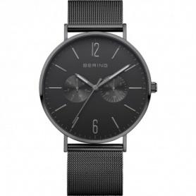 Bering Uhr, Mann, Stahl, Milanese Strickband, schwarz - 14240-222
