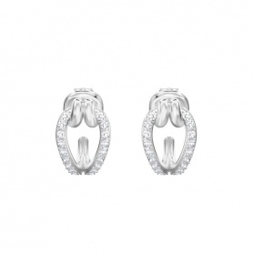 Swarovski hoop small earrings Lifelong  pavè with jaws - 5390814