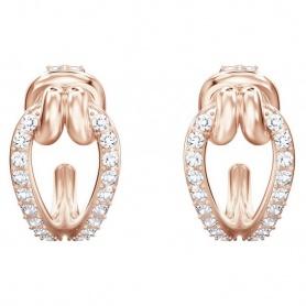Swarovski orecchini cerchietto con pavè di cristalli rosè - 5392920
