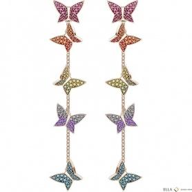 Swarovski orecchini pendenti Lilia farfalle multicolore - 5378693