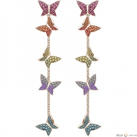 Swarovski drop earrings Lilia multicolored butterflies - 5378693