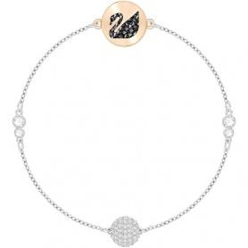 Swarovski Remix Collection Swan bracelet, silvered and rosè- 5391836