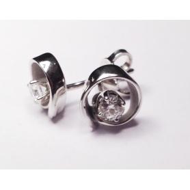 Dune Solo Earrings-GOR1584W