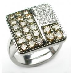 Salvini Mosaic ring with brown diamonds 20007638