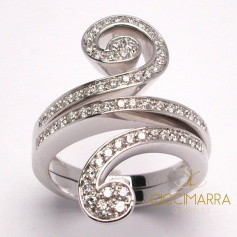 Salvini Riccio ring with diamonds - 20021692