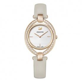 Stella Uhr, taubengraues Lederarmband, Rosé, Quarz - 5376830