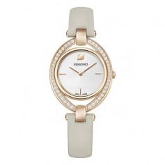 Stella watch, dove gray leather strap, rosè, quartz - 5376830