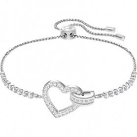 Swarovski bracciale tennis Lovely cuore bianco argentato 5380704