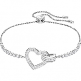 Swarovski, tennis bracelet, Lovely, white silvered heart 5380704