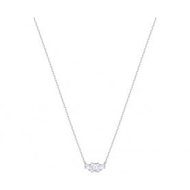 Swarovski Halskette Attract Trilogy asymmetrisch versilbert - 5392924