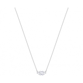 Swarovski necklace Attract Trilogy asymmetric silvered - 5392924