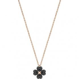 Swarovski collana Latisha Flower, quadrifoglio nero - 5420246