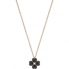Swarovski necklace Latisha Flower , black cloverleaf - 5420246