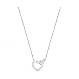 Swarovski necklace Lovely silvered heart - 5380703