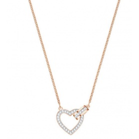 Swarovski necklace, Lovely, rose gold plated heart - 5368540