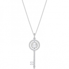 Swarovski necklace, Sparkling Dance, silvered key - 5368263