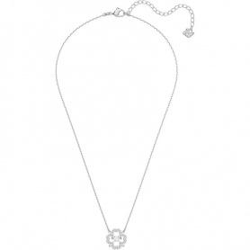Swarovski necklace, Sparkling Dance Flower, silvered - 5392759